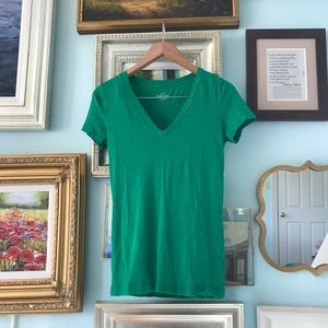 Green cotton J.Crew t-shirt